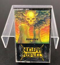 Nuclear Assault Cassette Survive Thrash Metal Band Music Collectible