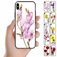 For OPPO Series - Flower Print Theme Mobile Phone Back Case Cover (1)