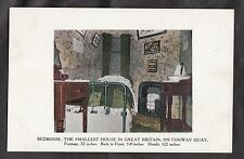 Postcard -C.1910 - Bedroom of the smallest house in Great Britain on Conway Quay