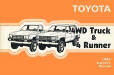 2WD /& 4WD MINT! Factory//OEM 1984 Toyota DLX /& SR5 Pickup Truck Repair Manual