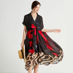Summer New Womens Elegant Two-Piece Dress Fashion Plus Size Short Sleeve dresses
