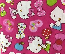 160cm Wide Pink Hello Kitty Cat Print Cotton Fabric Kids Girls' Clothing Fabric