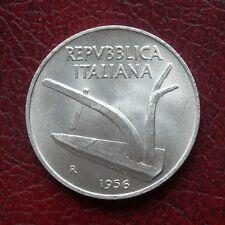 Italy 1956 aluminium 10 lire unc