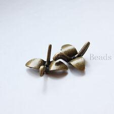 10pcs Antique Brass Tone Base Metal Charm - Origami Crane 24x24mm (13634Y-G-279)
