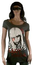 Amplified Lady Gaga Strass Rock Star Tunica Camicia Lunga Vintage T-shirt G.M 40