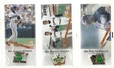 1994 San Francisco Giants Chronicle 3 Pin Set Barry Bonds Swift Burkett SGA