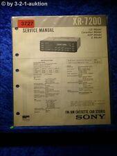 Sony Service Manual XR 7200 Car Stereo (#3727)