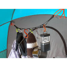 GEAR LINE 4 FOOT TENT SHED GARAGE HANG SYSTEM with 10 CLIPS CAMPING HUNTING NEW