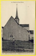 cpa Village d' ORLY sur MORIN (Seine et Marne) L' ÉGLISE St PIERRE St PAUL Animé