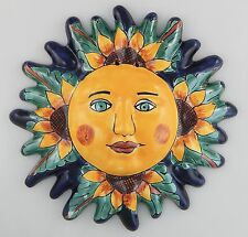 Mexican Talavera  Ceramic Sun Face Wall Decor Hanging Pottery Folk Art  # 04