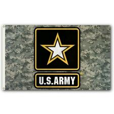 Camo U.S. Army Flag with Gold Star 3x5 ft Digital Camouflage One Strong Us New