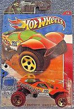 2011 Hot Wheels #212 Thrill Racers Jungle 2of6 Da'Kar Orange brown wheels OR5SPs