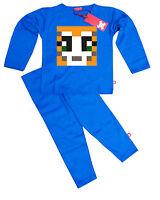 Kids Childrens Boys StampyLongNose StampyLongHead Stampy Pyjamas Pajamas (Blue)