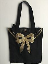 MARC JACOBS FRAGRANCES BLACK COTTON TOTE BAG 13 X 15 X 3 1/2 NEW WITH TAG