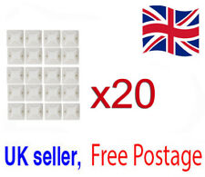 20pcs White Wire Clamp Mounting Cord Adhesive DIY Wholesale Cable Holder Base