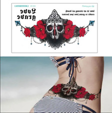 Under the Chest Back Large Women Temporary Tattoo Flower Shoulder Arm  /-b789-/