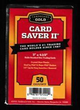 Cardboard Gold Card Saver 2 II Semi Rigid Holders 50 count