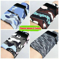 Armband Wallet for Phone Running Sports Arm Strap WristBand Holder Pouch Case