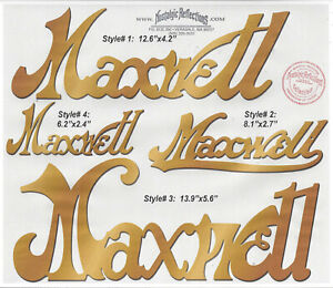 Maxwell Radiator Script BRASS or Stainless Steel CHOICE