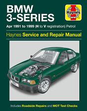 BMW 3 Series E36 Haynes Manual 1991 to 1996 Petrol 4 & 6 Cylinder