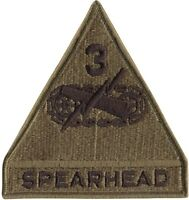 United States Army Spearhead 3rd Armored Division Patch