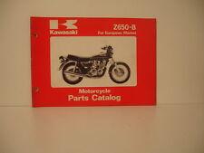 catalogue pièces détachées parts list kawasaki   Z 650 b année 1978