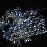Natural Rainbow Moonstone 9x11mm To 10x14mm Oval Faceted Cut Loose Gemstone