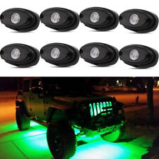 8X 9W Green LED Rock Trail Fender Under Glow Rig Light for Jeep Wrangler JK TJ