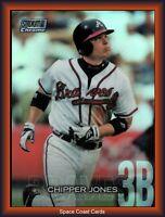 2018 Topps stadium club chrome refractor Chipper Jones SCC-125 Atlanta Braves