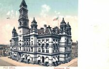 Vintage Postcard-Post Office, Baltimore MD