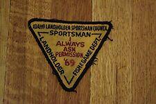 Vintage 1969 Fish & Game Dept. Patch Idaho Landholder Sportsman Council Hunting