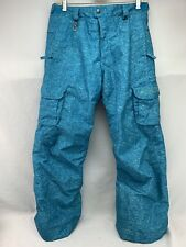 686 Smarty Snow Board Pants Youth Girls Blue XL Detachable Lining