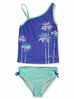 Nautica Girls' 2-Piece Palm Tree Tankini Swim Set