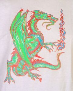 vtg 80s single stitch 1988 Dragon T-Shirt Gencon D&D Fantasy MTG Gaming M/L