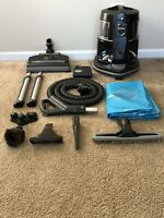 RAINBOW E2 TYPE 12 BLACK Vacuum Cleaner W/RainbowMate & Attachment Tools.GREAT!!
