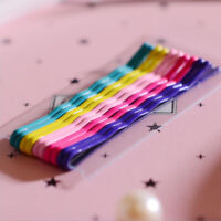 10Pcs 6cm Hair Clips Hairpins Colorful Metal Waved Curly Barrettes Bobby Pins B