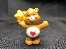 Vintage Care Bears Tenderheart with Star PVC Figure 1984 Miniature Mini