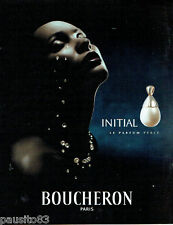 PUBLICITE ADVERTISING 016  2000  Boucheron parfum Initial Perle