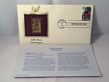 Folk Heroes Paul Bunyan 1996 First Day 22kt GOLD REPLICA Stamp FDC  #101578