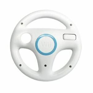 Original Racing Steering Wheel White for Wii - Authentic Nintendo Accessory