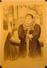 Lithographie d'HERMANN-PAUL, Maîtresse et Employée