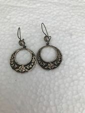 Vintage Taxco Mexico Sterling Silver Flower Earrings