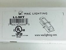 WAC Track Lighting L-Series Straight Line Connector, White - LI-WT