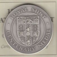BOXED ROYAL MINT NATIONAL TRUST CENTENARY SILVER MEDAL WITH CERTIFICATE.