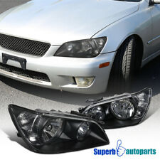For 2001-2005 Lexus IS300 Black Headlights Head Lamps Replacement Pair