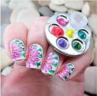 Finger Nail Art Palette Farbmischpalette Nagel Werkzeug Maniküre Ring Palette