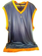 Jumpman Basketball Jersey 4Xlt Blue with Orange