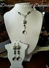 Handcrafted Wiccan/Pagan Magical SPIRITUAL/BALANCE Yin Yang Necklace & Earrings