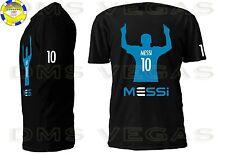 Lionel Messi FC Barcelona Argentina Futbol Soccer Jersey Tee Shirt Men Size S-XL