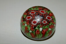 More details for colourful millefiori small paperweight